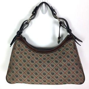 Dooney & Bourke Signature Canvas Leather Trim Bag